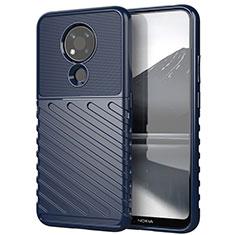 Silikon Hülle Handyhülle Gummi Schutzhülle Flexible Tasche Köper für Nokia 3.4 Blau