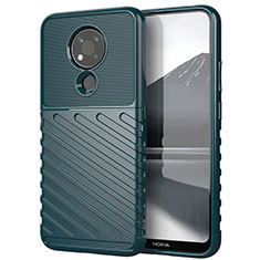 Silikon Hülle Handyhülle Gummi Schutzhülle Flexible Tasche Köper für Nokia 3.4 Grün