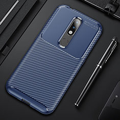 Silikon Hülle Handyhülle Gummi Schutzhülle Flexible Tasche Köper für Nokia 4.2 Blau