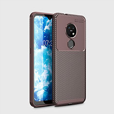 Silikon Hülle Handyhülle Gummi Schutzhülle Flexible Tasche Köper für Nokia 6.2 Braun