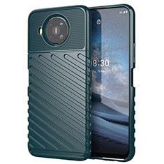 Silikon Hülle Handyhülle Gummi Schutzhülle Flexible Tasche Köper für Nokia 8.3 5G Nachtgrün