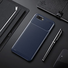 Silikon Hülle Handyhülle Gummi Schutzhülle Flexible Tasche Köper für Oppo A12e Blau