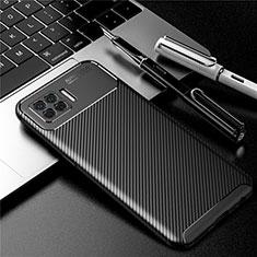 Silikon Hülle Handyhülle Gummi Schutzhülle Flexible Tasche Köper für Oppo A73 (2020) Schwarz