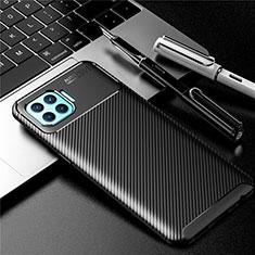 Silikon Hülle Handyhülle Gummi Schutzhülle Flexible Tasche Köper für Oppo F17 Pro Schwarz