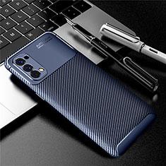 Silikon Hülle Handyhülle Gummi Schutzhülle Flexible Tasche Köper für Oppo Reno4 4G Blau
