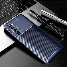 Silikon Hülle Handyhülle Gummi Schutzhülle Flexible Tasche Köper für Oppo Reno4 Pro 4G Blau