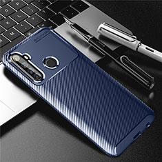 Silikon Hülle Handyhülle Gummi Schutzhülle Flexible Tasche Köper für Realme 6i Blau
