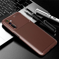 Silikon Hülle Handyhülle Gummi Schutzhülle Flexible Tasche Köper für Realme 6s Braun