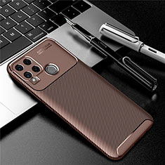 Silikon Hülle Handyhülle Gummi Schutzhülle Flexible Tasche Köper für Realme C15 Braun