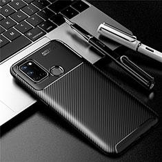Silikon Hülle Handyhülle Gummi Schutzhülle Flexible Tasche Köper für Realme C17 Schwarz