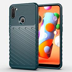 Silikon Hülle Handyhülle Gummi Schutzhülle Flexible Tasche Köper für Samsung Galaxy A11 Grün