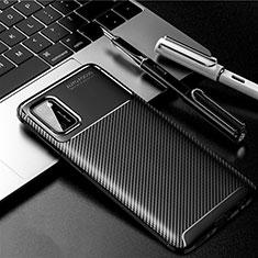Silikon Hülle Handyhülle Gummi Schutzhülle Flexible Tasche Köper für Samsung Galaxy A41 Schwarz