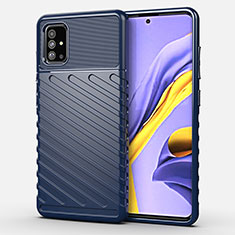 Silikon Hülle Handyhülle Gummi Schutzhülle Flexible Tasche Köper für Samsung Galaxy A51 4G Blau