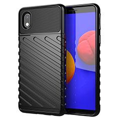 Silikon Hülle Handyhülle Gummi Schutzhülle Flexible Tasche Köper für Samsung Galaxy M01 Core Schwarz