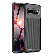 Silikon Hülle Handyhülle Gummi Schutzhülle Flexible Tasche Köper für Samsung Galaxy S10 5G SM-G977B Schwarz