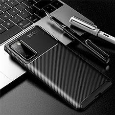 Silikon Hülle Handyhülle Gummi Schutzhülle Flexible Tasche Köper für Samsung Galaxy S20 FE 5G Schwarz