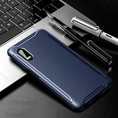Silikon Hülle Handyhülle Gummi Schutzhülle Flexible Tasche Köper für Samsung Galaxy XCover Pro Blau