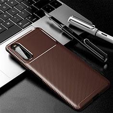 Silikon Hülle Handyhülle Gummi Schutzhülle Flexible Tasche Köper für Sony Xperia 10 II Braun