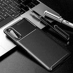 Silikon Hülle Handyhülle Gummi Schutzhülle Flexible Tasche Köper für Sony Xperia 10 II Schwarz