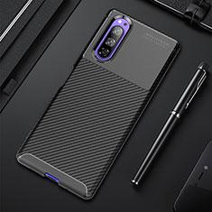 Silikon Hülle Handyhülle Gummi Schutzhülle Flexible Tasche Köper für Sony Xperia 5 Schwarz