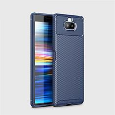 Silikon Hülle Handyhülle Gummi Schutzhülle Flexible Tasche Köper für Sony Xperia 8 Lite Blau