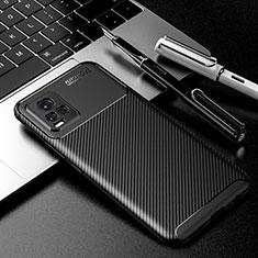 Silikon Hülle Handyhülle Gummi Schutzhülle Flexible Tasche Köper für Vivo V20 Schwarz