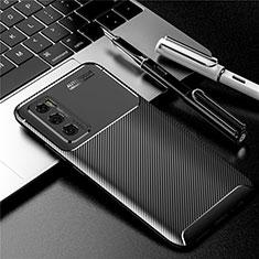 Silikon Hülle Handyhülle Gummi Schutzhülle Flexible Tasche Köper für Vivo V20 SE Schwarz