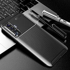 Silikon Hülle Handyhülle Gummi Schutzhülle Flexible Tasche Köper für Vivo X50 5G Schwarz