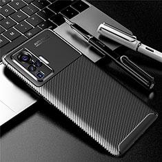 Silikon Hülle Handyhülle Gummi Schutzhülle Flexible Tasche Köper für Vivo X50 Pro 5G Schwarz