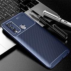 Silikon Hülle Handyhülle Gummi Schutzhülle Flexible Tasche Köper für Vivo Y50 Blau