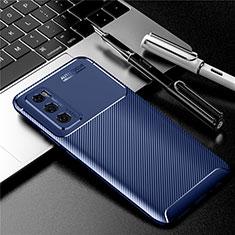 Silikon Hülle Handyhülle Gummi Schutzhülle Flexible Tasche Köper für Vivo Y70 (2020) Blau