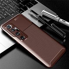 Silikon Hülle Handyhülle Gummi Schutzhülle Flexible Tasche Köper für Xiaomi Mi 10 Ultra Braun