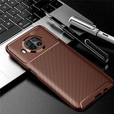 Silikon Hülle Handyhülle Gummi Schutzhülle Flexible Tasche Köper für Xiaomi Mi 10i 5G Braun