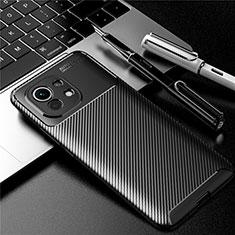 Silikon Hülle Handyhülle Gummi Schutzhülle Flexible Tasche Köper für Xiaomi Mi 11 5G Schwarz