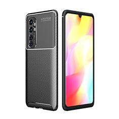 Silikon Hülle Handyhülle Gummi Schutzhülle Flexible Tasche Köper für Xiaomi Mi Note 10 Lite Schwarz