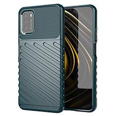 Silikon Hülle Handyhülle Gummi Schutzhülle Flexible Tasche Köper für Xiaomi Poco M3 Nachtgrün