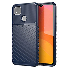 Silikon Hülle Handyhülle Gummi Schutzhülle Flexible Tasche Köper für Xiaomi Redmi 9 India Blau
