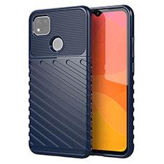 Silikon Hülle Handyhülle Gummi Schutzhülle Flexible Tasche Köper für Xiaomi Redmi 9C NFC Blau