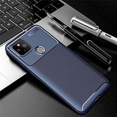 Silikon Hülle Handyhülle Gummi Schutzhülle Flexible Tasche Köper S01 für Google Pixel 5 Blau