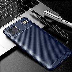 Silikon Hülle Handyhülle Gummi Schutzhülle Flexible Tasche Köper S01 für LG K92 5G Blau