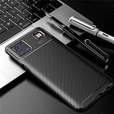 Silikon Hülle Handyhülle Gummi Schutzhülle Flexible Tasche Köper S01 für LG K92 5G Schwarz