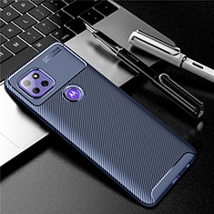 Silikon Hülle Handyhülle Gummi Schutzhülle Flexible Tasche Köper S01 für Motorola Moto G 5G Blau