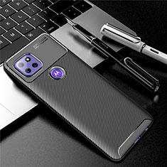 Silikon Hülle Handyhülle Gummi Schutzhülle Flexible Tasche Köper S01 für Motorola Moto G 5G Schwarz