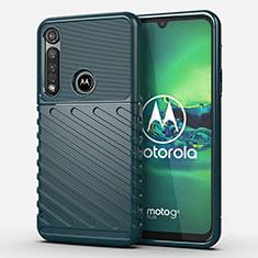 Silikon Hülle Handyhülle Gummi Schutzhülle Flexible Tasche Köper S01 für Motorola Moto G8 Plus Grün