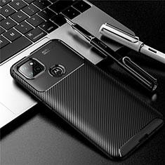 Silikon Hülle Handyhülle Gummi Schutzhülle Flexible Tasche Köper S01 für Motorola Moto G9 Power Schwarz