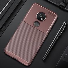 Silikon Hülle Handyhülle Gummi Schutzhülle Flexible Tasche Köper S01 für Nokia 6.2 Braun