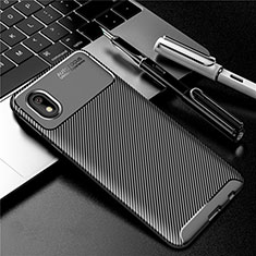 Silikon Hülle Handyhülle Gummi Schutzhülle Flexible Tasche Köper S01 für Samsung Galaxy A01 Core Schwarz