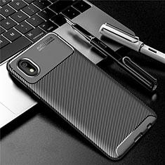 Silikon Hülle Handyhülle Gummi Schutzhülle Flexible Tasche Köper S01 für Samsung Galaxy M01 Core Schwarz