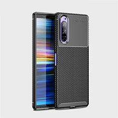 Silikon Hülle Handyhülle Gummi Schutzhülle Flexible Tasche Köper S01 für Sony Xperia 5 Schwarz