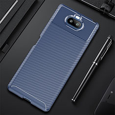 Silikon Hülle Handyhülle Gummi Schutzhülle Flexible Tasche Köper S01 für Sony Xperia 8 Lite Blau